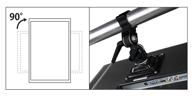 KCP-879 / Monitor Arm w/ Burger Coupler