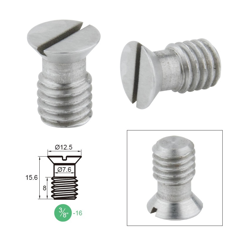 "KUPO Grip Slotted Countersunk Head 3/8""-16 Screw"